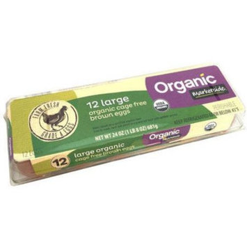Marketside Large Organic Cage Free Brown Eggs, 12 count