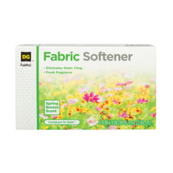 DG Home Fabric Softener Sheets - Spring Breeze, 34 ct