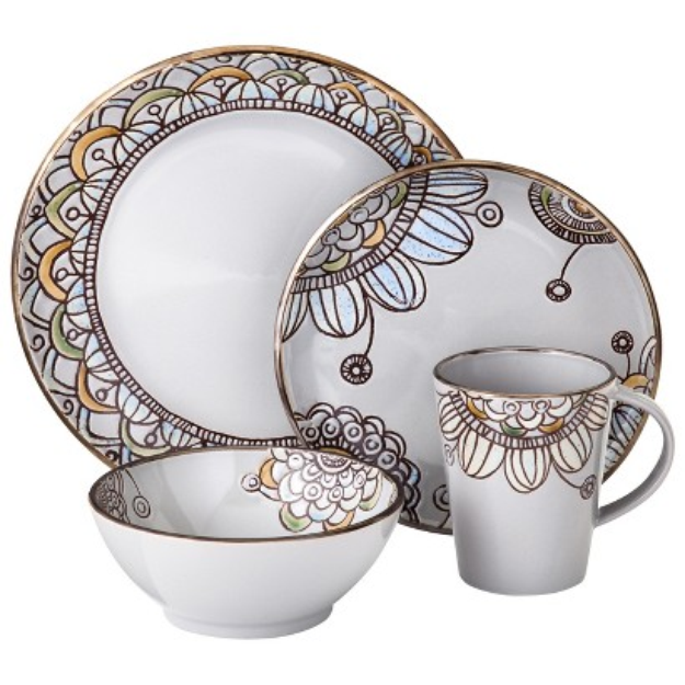 Threshold 16 Piece Dinnerware Vermillion