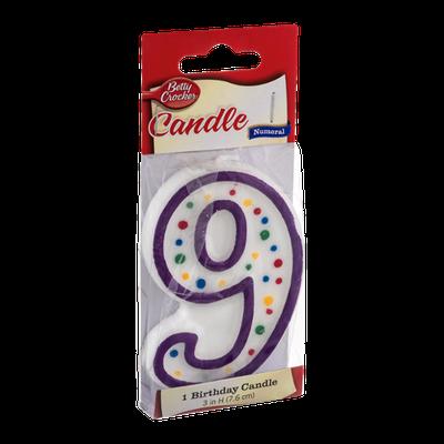 Betty Crocker Numeral 9 Birthday Candle