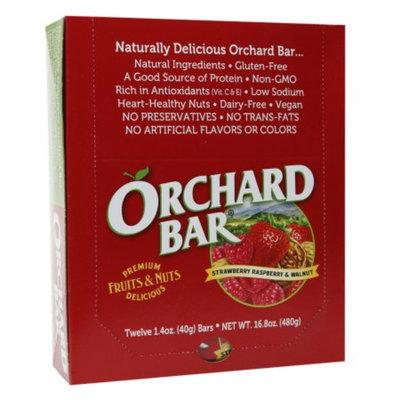 Orchard Bars Fruits & Nuts 12/1.4oz, Strawberry, Raspberry & Walnut Bar, 16.8 oz
