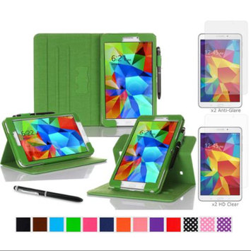 rooCASE Samsung Galaxy Tab 4 8.0 SM-T330 Tablet Case - Dual View Multi-Angle Stand Cover Pen Stylus with 4-Pack (2 Anti-Glare Matte & 2 HD Clear) Screen Protectors for Tab4 8