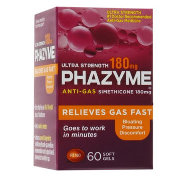 Phazyme Ultra Strength 180mg Anti-Gas Simethicone Soft Gels