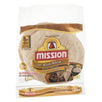 Mission Flour Tortillas 100% Whole Wheat Medium - 10 CT