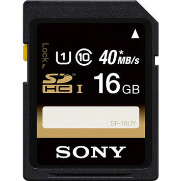 Sony 16GB Class 10 UHS R40 SDHC Memory Card