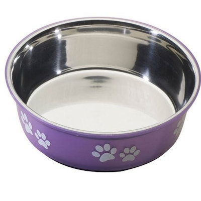Ethical Pet Products (Spot) DSO6128 64-Ounce Fusion Designer Stainless Steel Dog Bowl, Large, Purple
