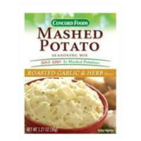 Concord foods Mashed Potato Garlic & Herb Seasoning Mix, 1.27 OZ Pouch