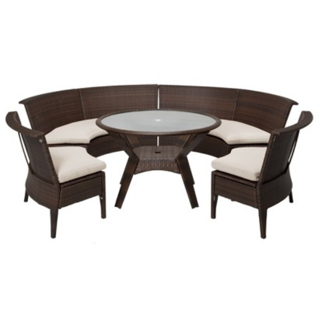 Threshold Rolston 5-Piece Wicker Sectional Patio Dining Furniture Set