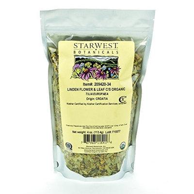 Starwest Botanicals Organic Linden Leaf & Flower C/S - 4 oz