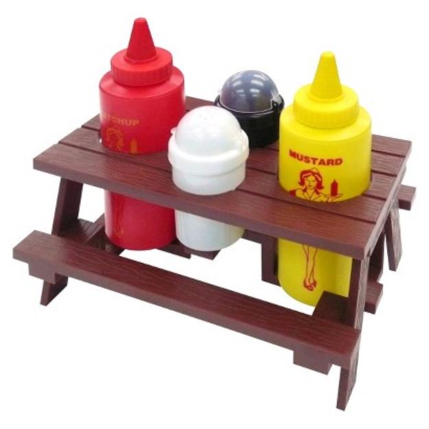 Mr. Bar-b-q Mr. Bar-B-Q Picnic Table Condiment Set