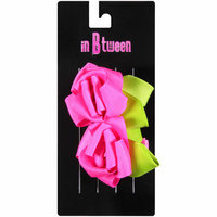 in Btween Rose Pink and Green Hair Clips