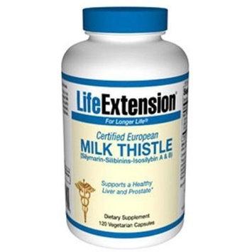 Life Extension - CERTIFIED EUROPEAN MILK THISTLE 750 mg 120 VEGETARIAN CAPSULES