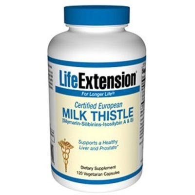 Life Extension - CERTIFIED EUROPEAN MILK THISTLE 750 mg 120 VEGETARIAN CAPSULES
