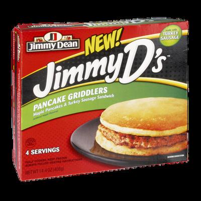 Jimmy Dean Jimmy D's Pancake Griddlers Maple Pancakes & Turkey Sausage Sandwich - 4 CT