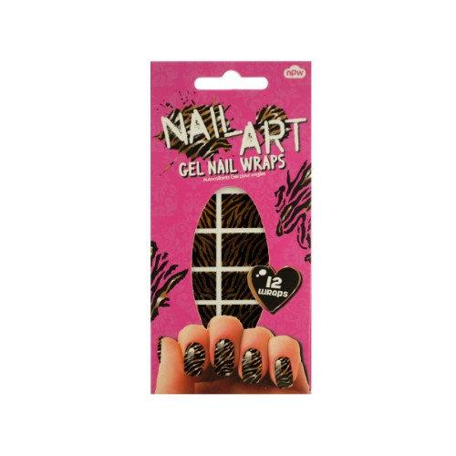 Kole Imports Bulk Buys Tiger Stripes Nail Art Gel Nail Wraps Set 24 Pack