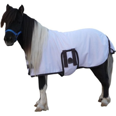EOUS Foal/Mini Fly Sheet Medium White/Chocolate