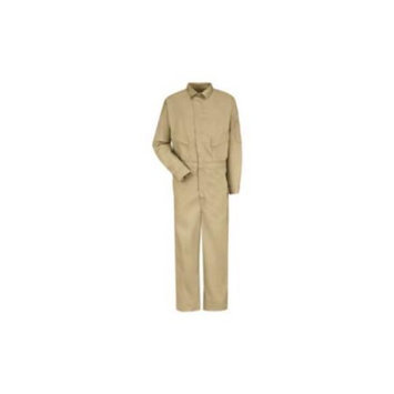 Bulwark 50 Men's Khaki Long Sleeve Coveralls CLD4KH RG 50-1