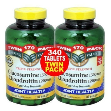 Spring Valley - Glucosamine Chondroitin, Triple Strength, 340 Caps