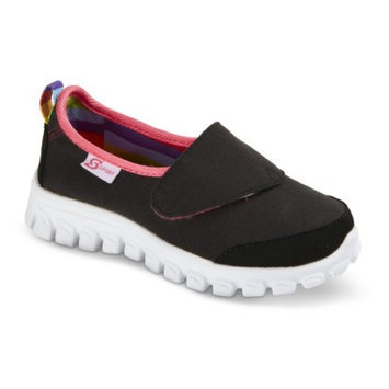 S SPORT BY SKECHERS Toddler Girl's Black Slip on Sneaker