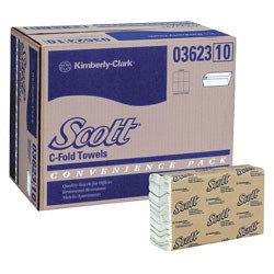 Scott C-Fold Hand Paper Towels - 150 Towels per Pack (Set of 9)