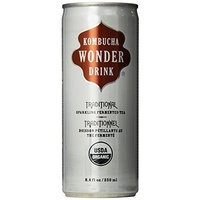 Kombucha Wonder Drink, Traditional Fermented Tea, 8.4oz Can (Pack of 24)