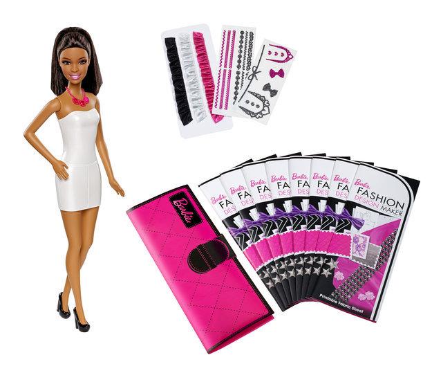 Mattel Girls Barbie Fashion Design Maker African-American Doll
