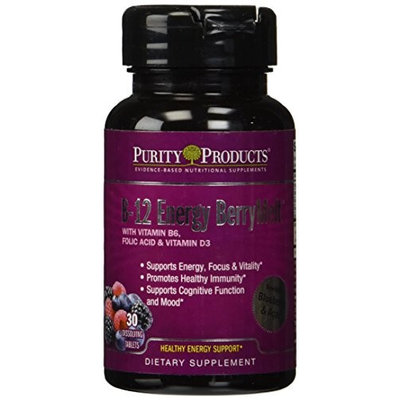 B-12 Energy BerryMelt with Super Fruits by Purity Products - 30 Tablets