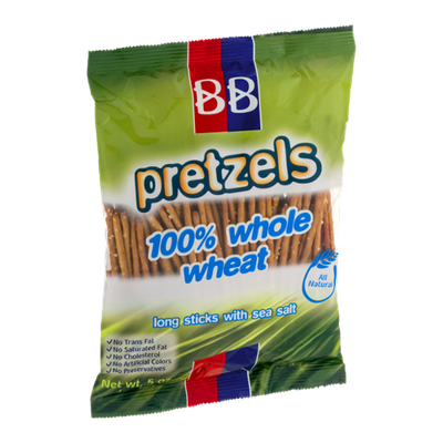 BB Pretzels 100% Whole Wheat Long Sticks