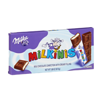 Milka Milkinis Milk Chocolate Confections with Creamy Filling