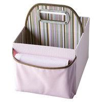 JJ Cole Stripe Diaper Caddy - Pink