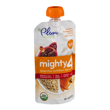 Plum Organics Mighty 4 Greek Yogurt Tots Pumpkin Pomegranate Quinoa