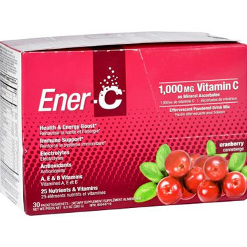 Ener-C - Vitamin C Effervescent Powdered Drink Mix Cranberry 1000 mg. - 30 Packets