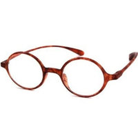 Round Flexie Reading Glasses in Tortoise By Calabria