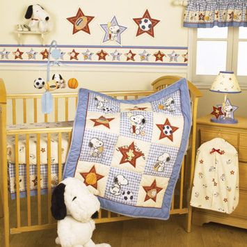 Lambs & Ivy Bedtime Originals Champ Snoopy 3pc Crib Bedding Set Collection Bundle