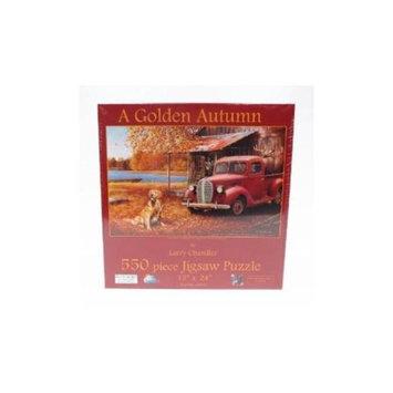 SunsOut A Golden Autumn 550 Piece Puzzle by Larry Chandler