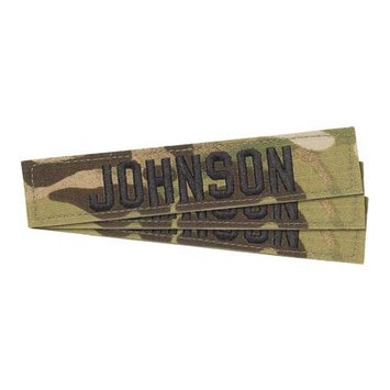 Hooah US Cavalry Official Multicam Name Tapes w/Velcro (Set of 3) Black Lettering