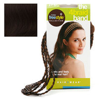 Pop Put On Pieces POP Put On Pieces 4 Braid Band, Medium Brown Trio, 1 ea