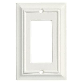Brainerd Wood Architectural Single GFCI/Rocker Wall Plate - White