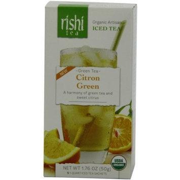 Rishi Tea Iced Tea, Citron Green, 1.76 Ounce