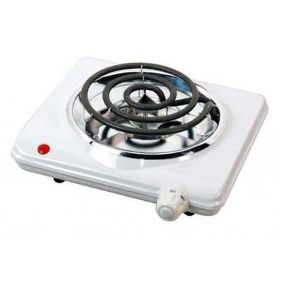 Brentwood Electric 1000W Single Burner (White)