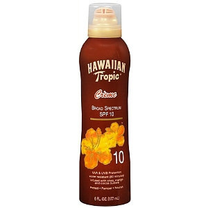 Hawaiian Tropic Creme Lotion Tanning Spray SPF 10