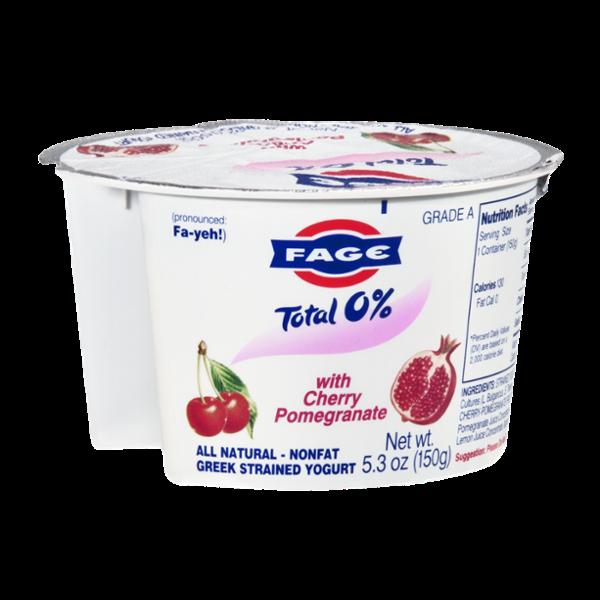 Fage Nonfat Greek Strained Yogurt Cherry Pomegranate