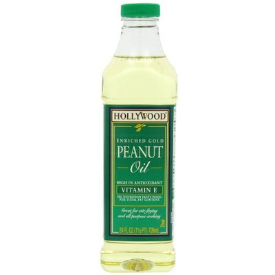 Hollywood Peanut Oil, 24-Ounce Unit (Pack of 4)