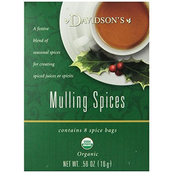 Davidson's Tea Mulling Spices, 8-Count Tea Bags (Pack of 12)