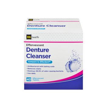 DG Health Effervescent Denture Cleanser Tablets - 40 ct