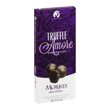 Morkes Chocolates Dark Chocolate Bar Truffle Amore