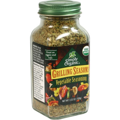 Simply Organic Certified Organic Grilling Seasons Vegetable Seasoning
