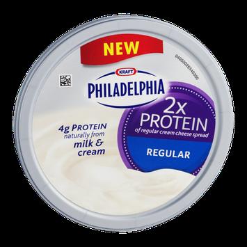 Kraft Philadelphia Cream Cheese Spread 2x Protein Regular