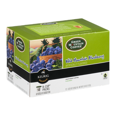 Green Mountain Coffee Wild Mountain Blueberry Light Roast Coffee K-Cup - 12 CT