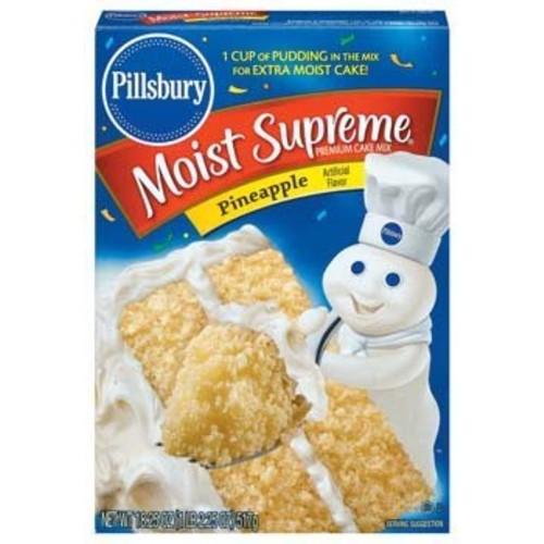 Pillsbury Moist Supreme Pineapple Premium Cake Mix 18.9 oz